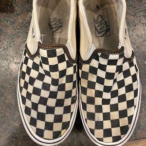 Black and white checkered Van's